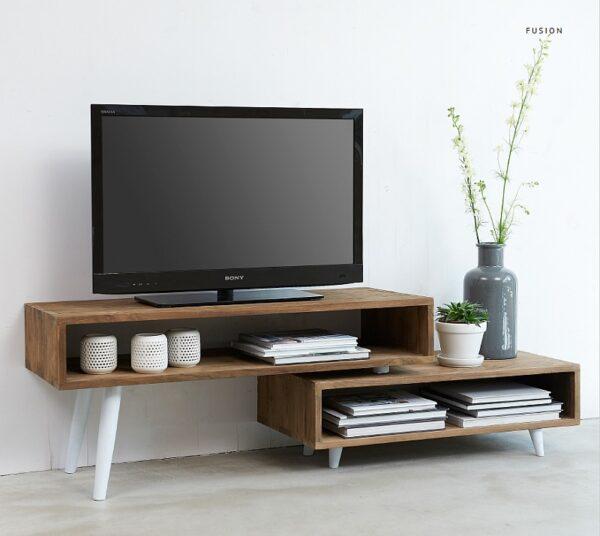 שידת טלוויזיה מעץ ממוחזר