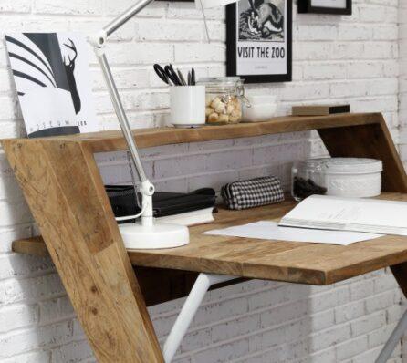 שולחן עבודה מעץ מלא