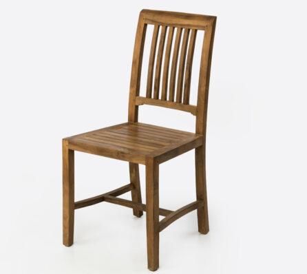 כיסא עץ מלא עם משענת גב גבוהה
