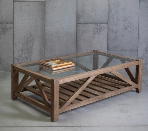 מתקדם שולחן קפה עם פלטת זכוכית | שולחנות קפה מעץ | וסטו - רהיטי עץ מלא NV-14