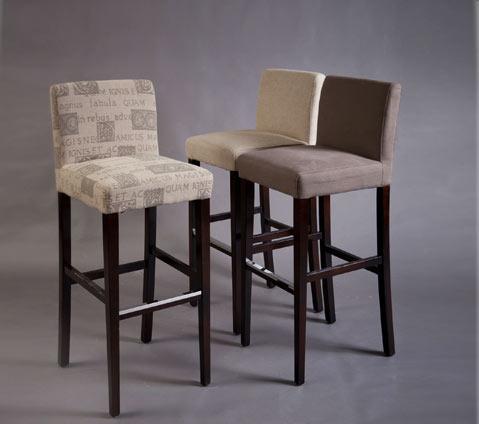 מגה וברק כיסא בר גבוה מרופד | כסאות בר | כסאות בר מעץ | וסטו - רהיטי עץ מלא JF-64