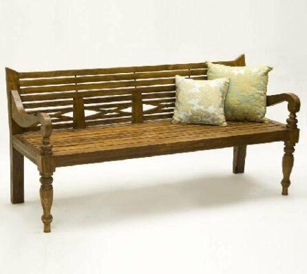 ספסל עץ טיק Java