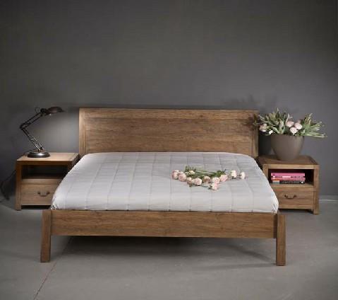 מתוחכם מיטה זוגית בגימור ווש כפרי | מיטה זוגית | מיטות כפריות | וסטו UG-16