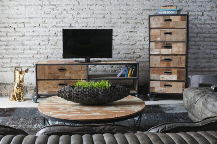 סלון מרוהט ברהיטי עץ ממוחזר