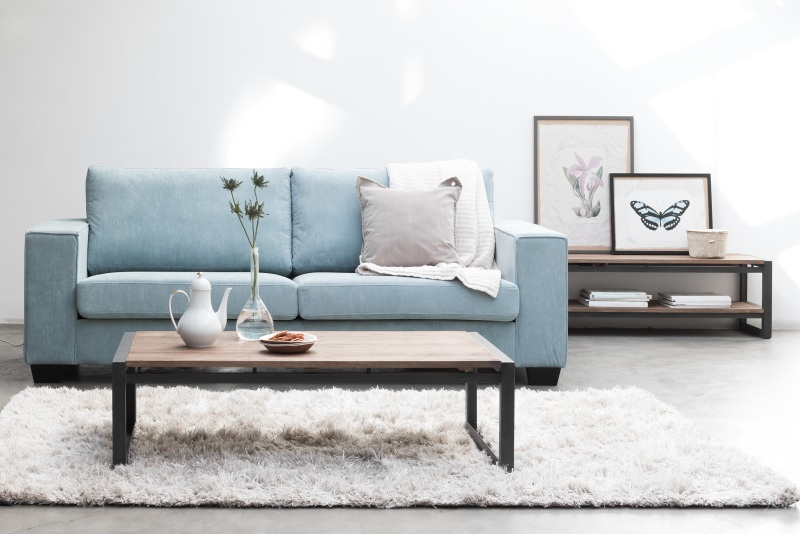 ספה תכלת לסלון