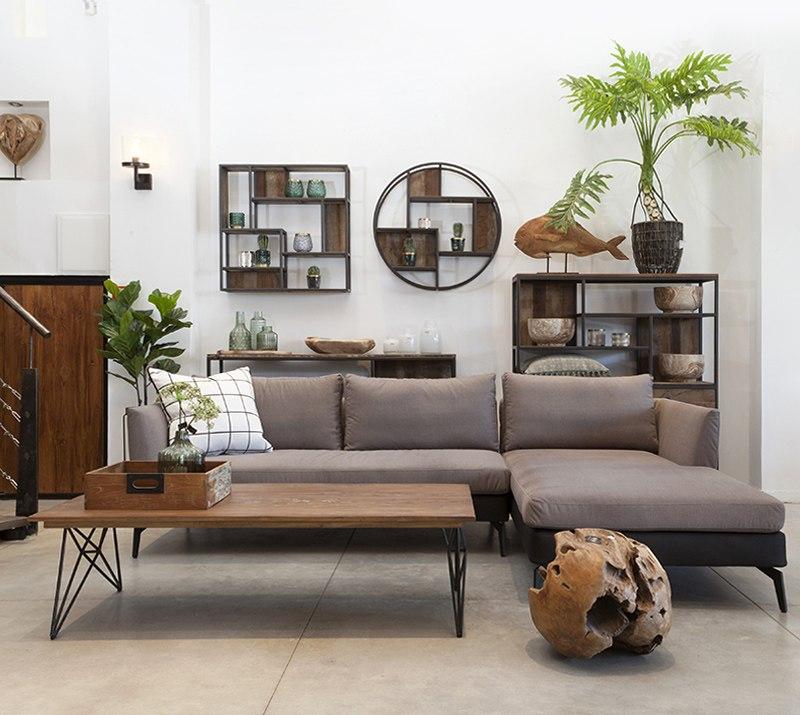 סלון מעוצב וסטו רהיטי עץ מלא