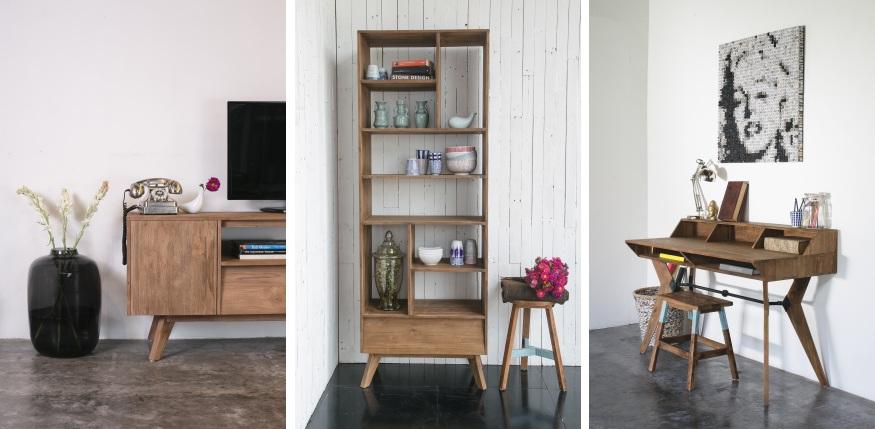 רהיטים מעץ בסגנון רטרו