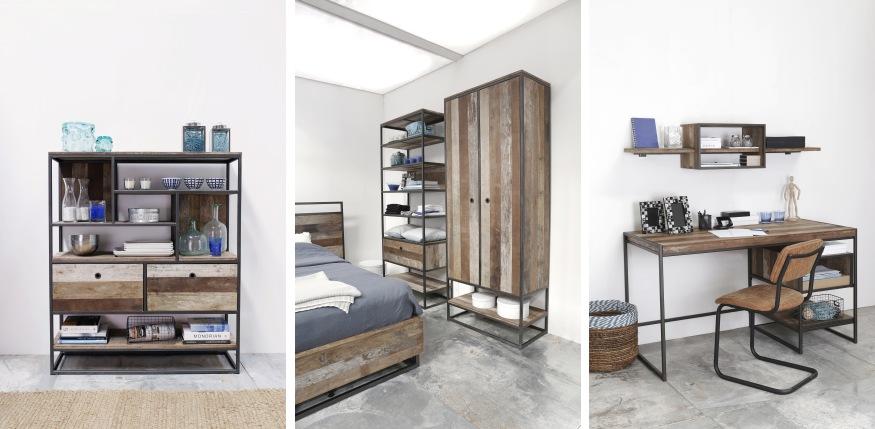 רהיטים מעץ מלא ממוחזר
