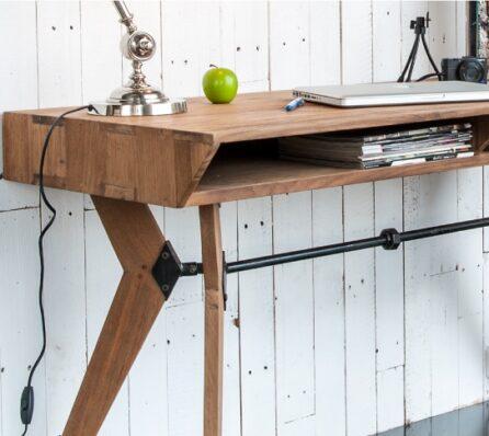 שולחן עבודה מעוצב מעץ מלא