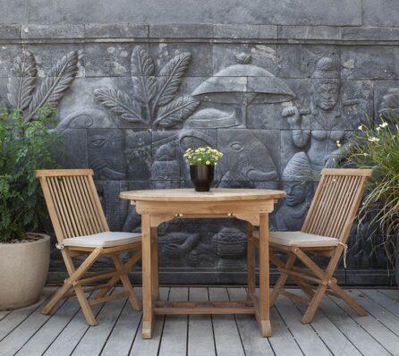 שולחן אוכל עגול לגינה