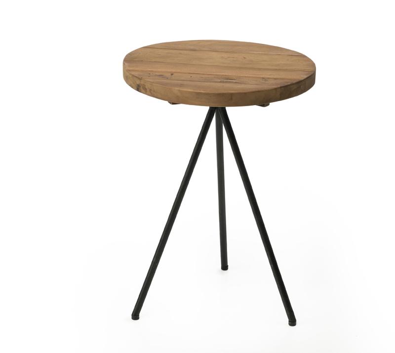שולחן צד עגול עץ