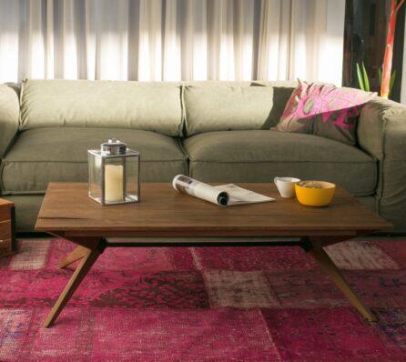 שולחן קפה מלבני לסלון מעץ מלא
