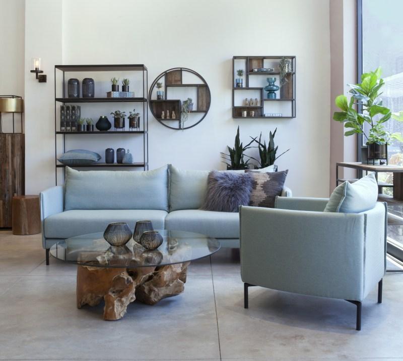 ספה לסלון בסגנון רטרו
