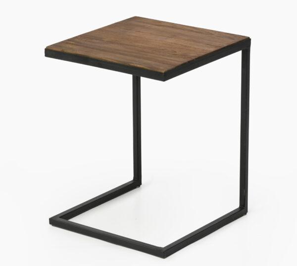 שולחן צד עם מסגרת ברזל