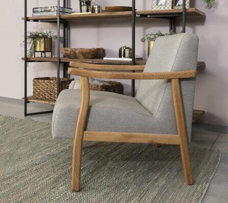 כורסא עם מסגרת עץ מלא