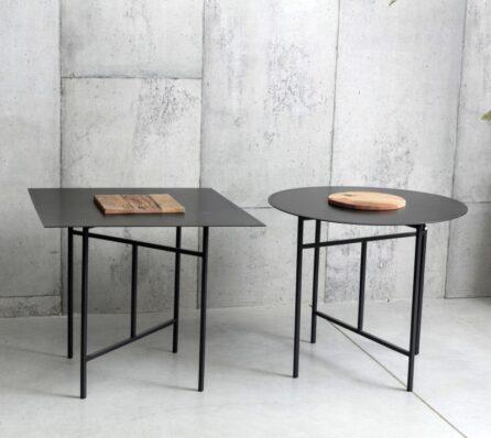 שולחן צד מרובע ברזל