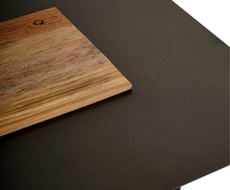 שולחן צד לסלון עם עץ ממוחזר