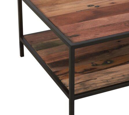 שולחן סלון עם מסגרת ברזל