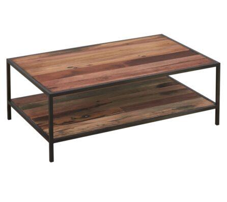 שולחן סלון מלבני מעץ מלא