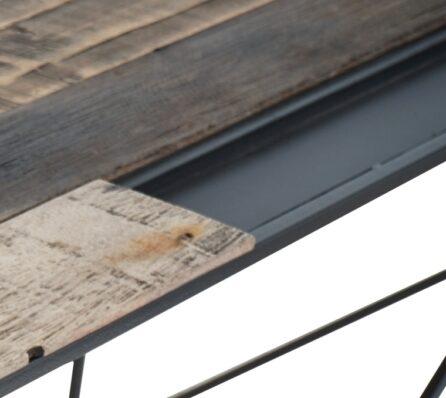 שולחן כתיבה משולב עץ וברזל