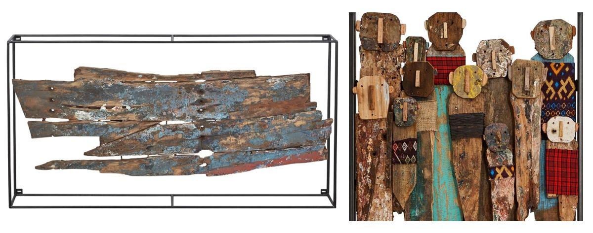 אומנות קיר מעץ ממוחזר