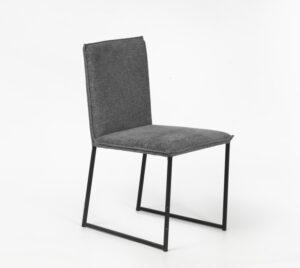 כסא מרופד רגלי מתכת
