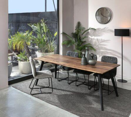 שולחן אוכל מלבני עץ מלא