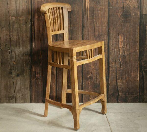 כיסא עץ מלא לבר