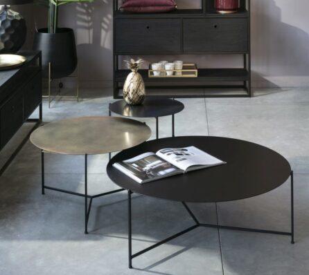 שולחן סלון ברזל עגול