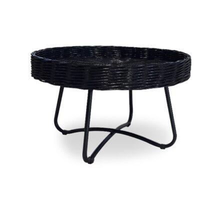 שולחן ראטן שחור