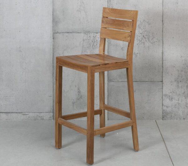 כיסא בר עץ מלא