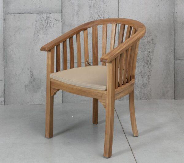כיסא עץ מלא עם משענות
