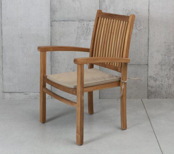 כסא גינה עץ עם משענות