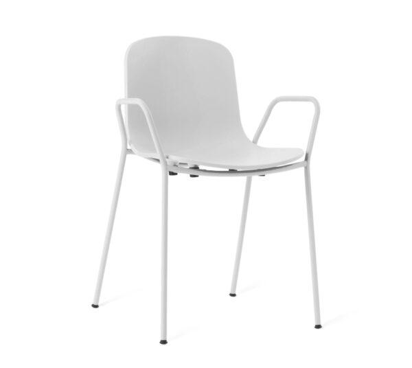 כיסא לבן לפינת אוכל