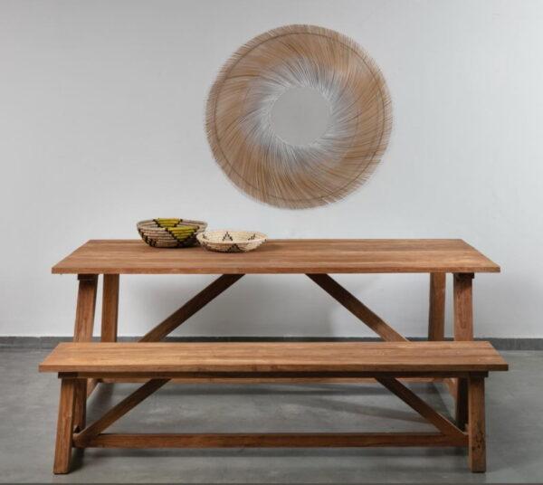 שולחן אוכל חוץ עץ מלא
