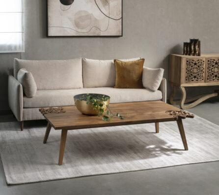 שולחן סלון עץ טיק
