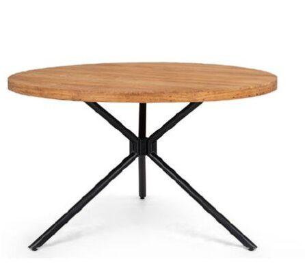 שולחן עגול משולב ברזל