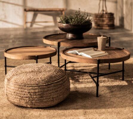 שולחן קפה עגול לסלון