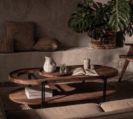 שולחן סלון מעוגל